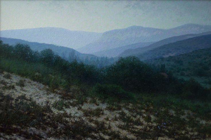 """Dull morning. Crimea"" 2011, oil on canvas, 40x60 cm, by Daniil Belov"