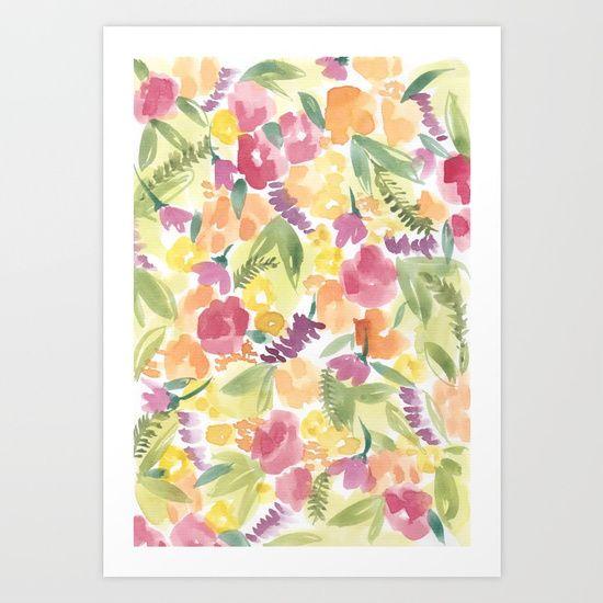 Summer bunch // Sarah Jager Design #watercolorart #summer #flowers