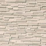white oak 3d honed stacked stone panels