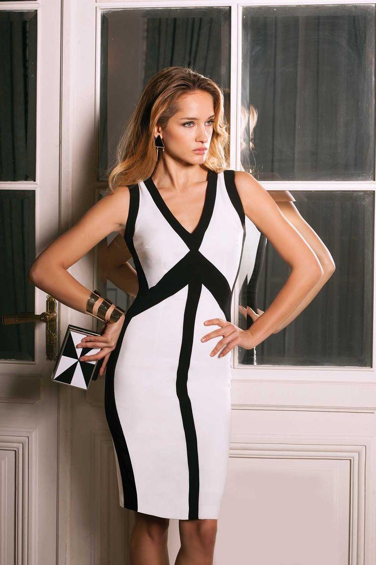 (c) www.nissa.com #nissa #b/w #black #white #dress #style #fashion #fashionista #model #beautiful