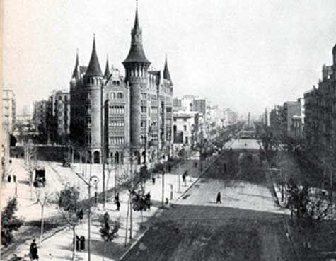 Casa de les Punxes, av. Diagonal, 1923