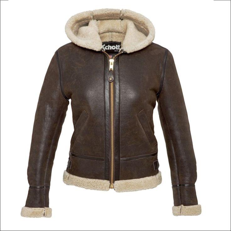 Γυναικείο δερμάτινο SCHOTT N.Y.C. Μοντέλο: Bomber 1257H Δέρμα: brown sheep skin Τιμή: 592€