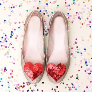 Heart shoe clips. Shopbando.com