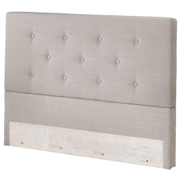 BEKKESTUA Headboard - King - IKEA feels good, firm. king mattress 900, plus box spring and legs.