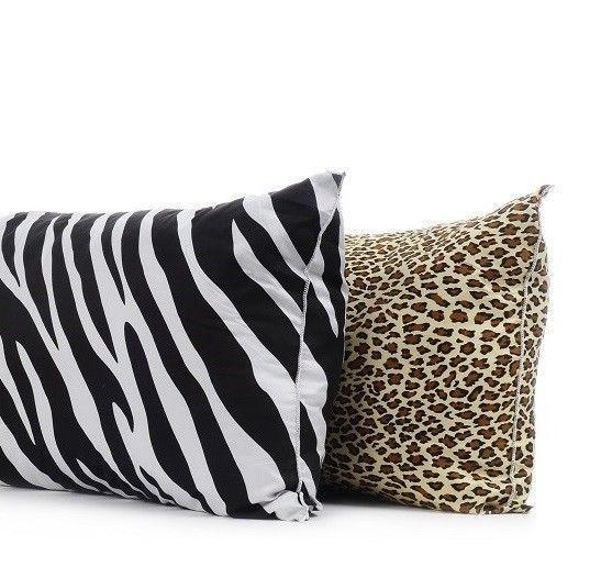 "Zebra Body Pillow Case Protector Animal Print 21"" x 54"" Black White Stripes #BedInABag #Modern"