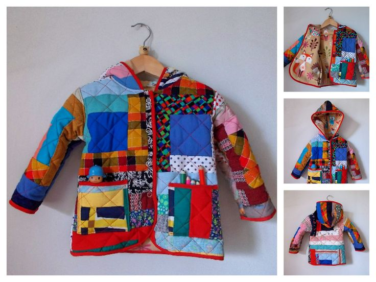 CASACO  toddler Patchwork coat