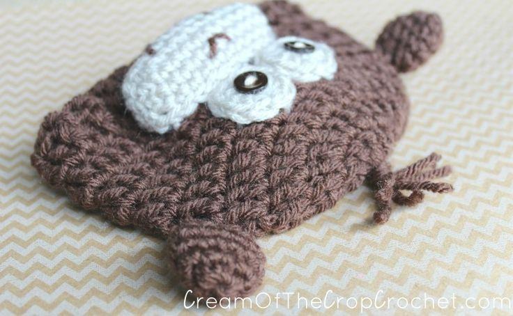 Cream Of The Crop Crochet ~ Preemie/Newborn Monkey Hats {Free Crochet Pattern}