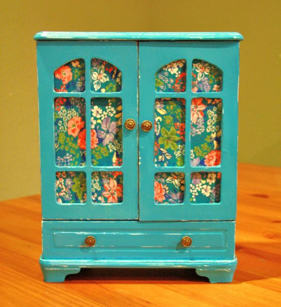 Cot In A Box Morocco Turquoise: Turquoise Upcycled Jewerly Box