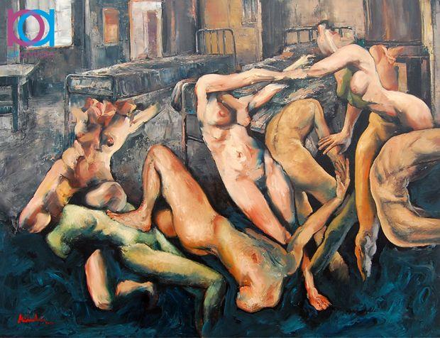 Laurenţiu Midvichi – Libido dominandi - 100 x 130 cm, ulei pe pânză