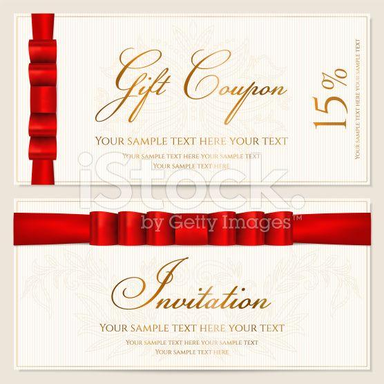 Cupón de regalo de// tarjeta/cupón certificado plantilla de etiqueta de /.