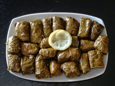 Authentic Greek Recipes: Greek Dolmades (Stuffed Vine Leaves)