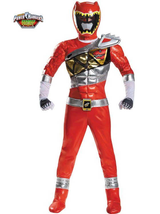Child Red Ranger Dino Charge Prestige Costume