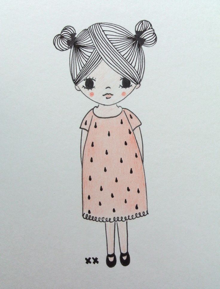 girl illustration | meisje illustratie | kids room | kinderkamer www.kinderkamervintage.nl