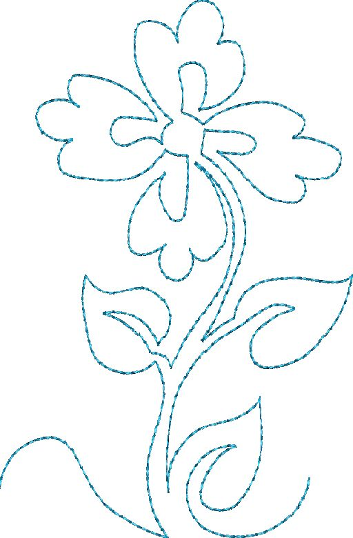 Continuous Single Line Quilting Flowers - Machine Embroidery Designs at Splinters  Threads