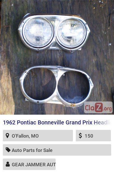 1962 Pontiac Bonneville Grand Prix Headlight Bezels Pair 389 421 Bezel Oem Rare One With Headlights