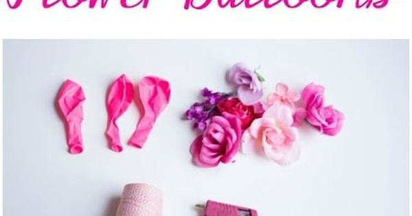 Flower balloons, Artificial flowers and Balloons on Pinterest