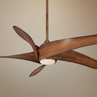 """Minka Aire Artemis XL5 Ceiling Fan - 62"""" Distressed Koa #midcentury #modern #fan"""
