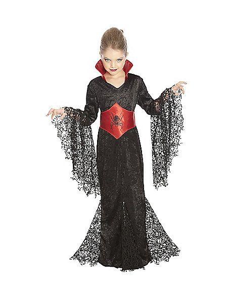 Black Lace Vampira Girls Costume - Spirithalloween.com