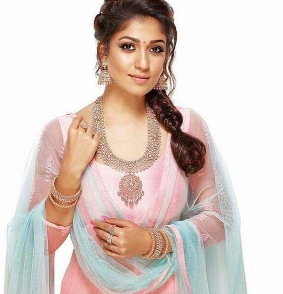 Nayanthara. Tamil actress. Jewellery. Anarkali.