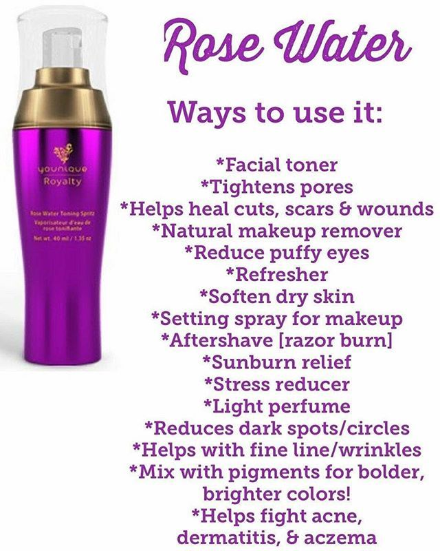 Why Rose Water Is Good For Your Skin Use It As A Toner In The Morning And Night Darkspots Toner Facecare D Younique Skin Care Rose Water Toner Rose Water