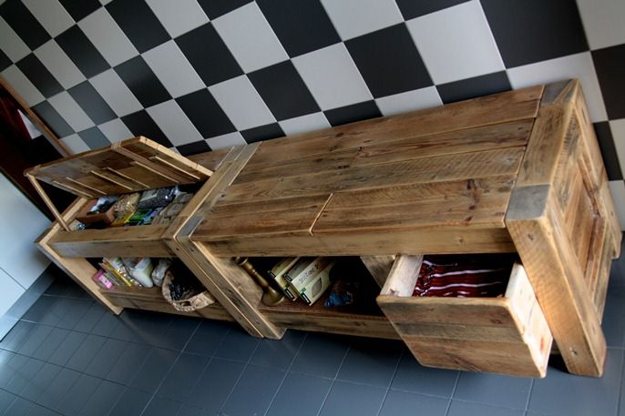 17 best images about cucine di recupero on pinterest - Mobili di pallets ...