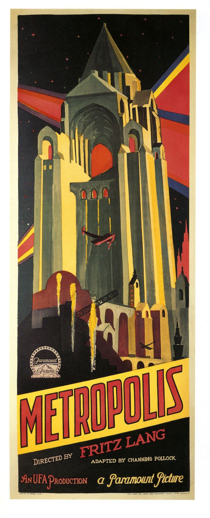 Metropolis is a 1927 German expressionist science-fiction film directed by Fritz Lang.
