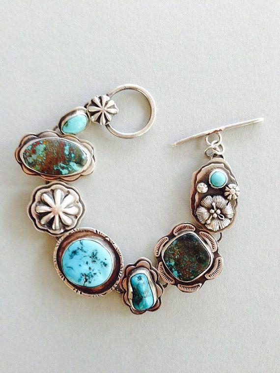 Treasure bracelet American turquoise by louiseodwyerdesigns