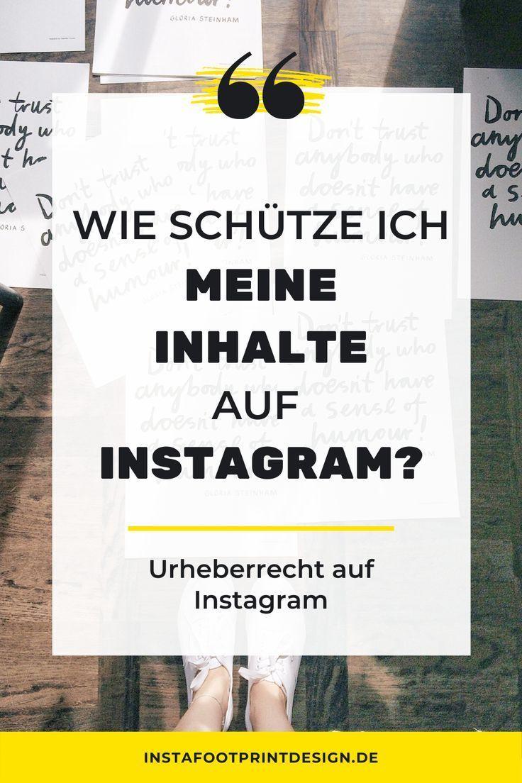 Urheberrecht Instagram