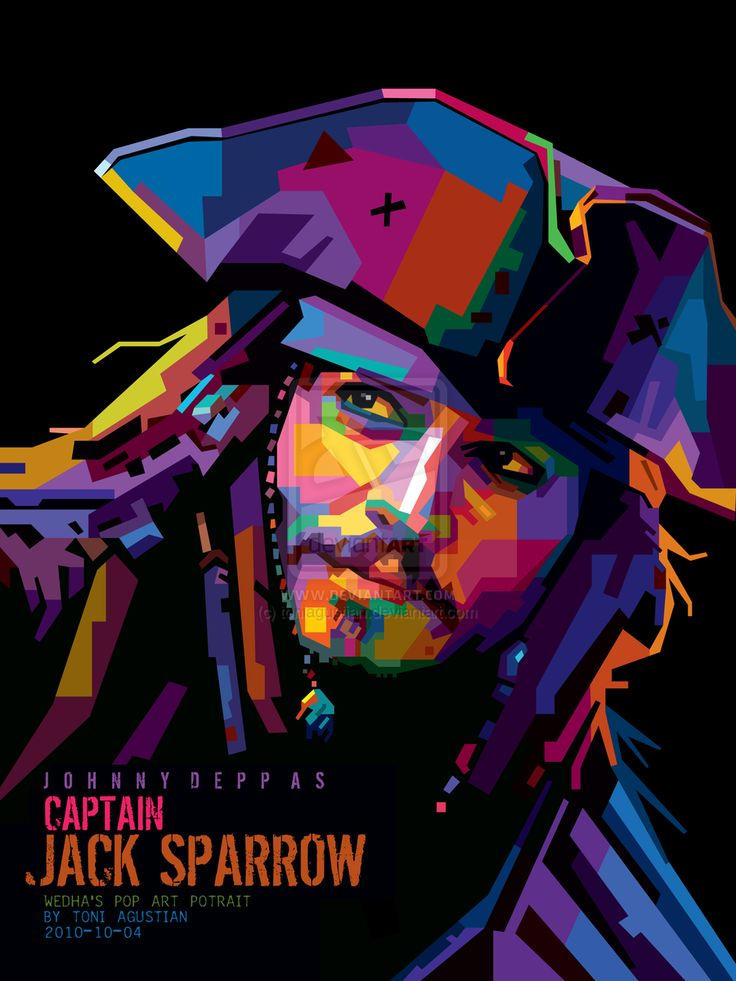 JACK SPARROW - WPAP BY TONI by toniagustian.deviantart.com on @deviantART