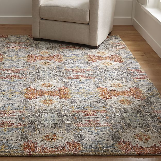 "Impressionist oriental lets the eye combine small dots of contrasting color, blending together into a painterly pattern of soft blues and neutral shades. Master artisans use a mix of handspun natural wool, Argentinean semi-twist wool and viscose yarns, micro tufting them into an exceedingly resilient rug.<br /><br />Order rugs (up to 6'x9') on-line and pickup in a <a href=""/stores/list-state.aspx"">store near you</a>. It's fast, easy and free.<br /><br />For 8'x10' and larger rugs, order…"