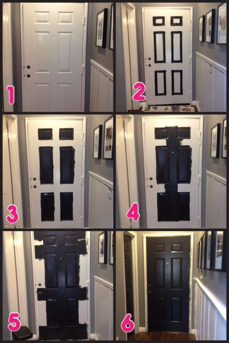Painting front door black download hallway makeover part 2 black doors eventelaan Gallery