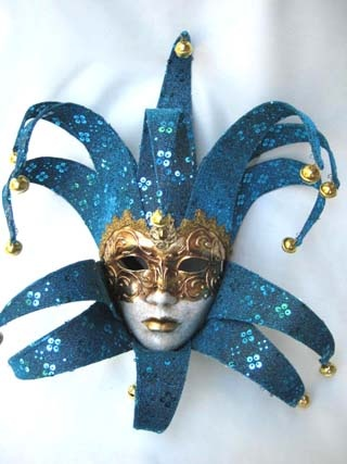 Si Lucia Jolly Curlie Top/Bottom Sparkle Blue Mask