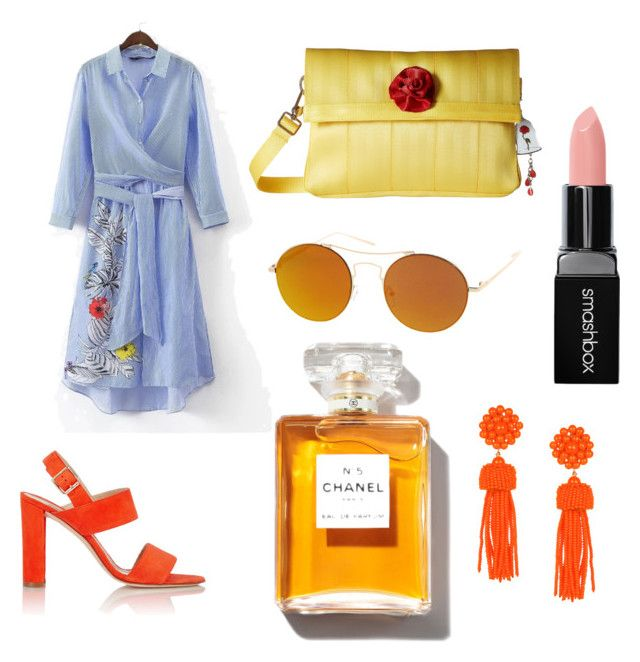 """Untitled #83"" by danaemf on Polyvore featuring Manolo Blahnik, Harveys, Smashbox and SW Global"