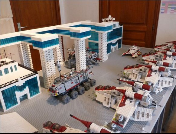 Lego star wars clone base:) (not mine)