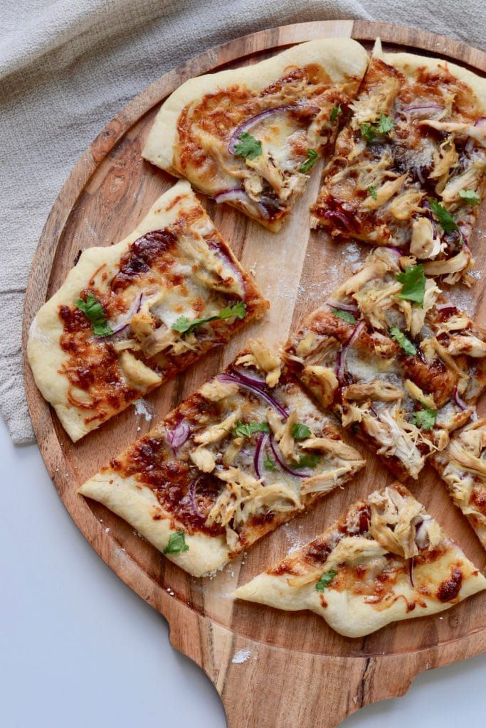 Make Amazing Pizza At Home With Store Bought Dough Recipe Easy Homemade Bbq Homemade Pizza Chicken Pizza