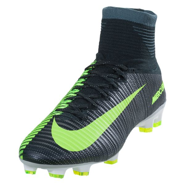 Nike Mercurial Superfly V FG Soccer Cleat - Seaweed/Metallic  Silver/Volt/Racing Green
