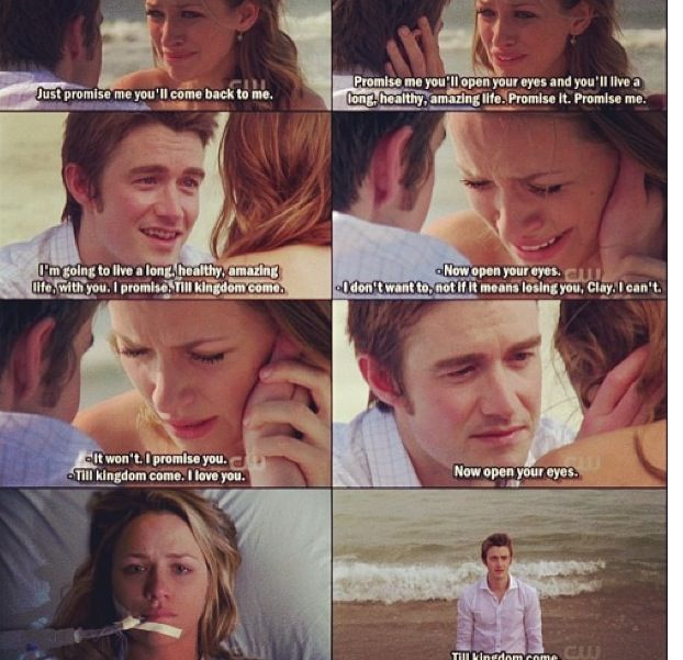 Clay and Quinn; one tree hill, I cried so much in this scene and seeing it again makes me tear up! :'(