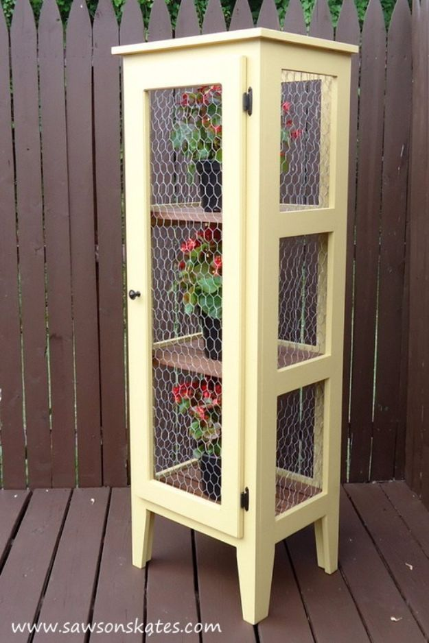 Best Country Decor Ideas for Your Porch - Porch Garden Cabinet - Rustic Farmhouse Decor Tutorials and Easy Vintage Shabby Chic Home Decor for Kitchen, Living Room and Bathroom - Creative Country Crafts, Furniture, Patio Decor and Rustic Wall Art and Accessories to Make and Sell http://diyjoy.com/country-decor-ideas-porchs