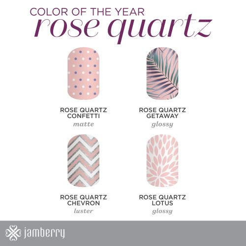 Rose Quartz portion of the color of the year wraps.