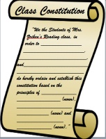 A Teacher's Treasure: Back To School Activity, Classroom Constitution & Bill of Rights