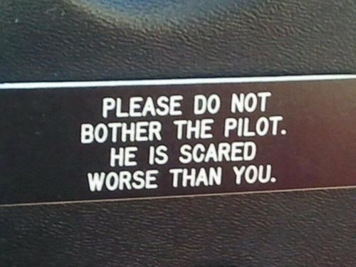 Please do not bother the pilot!