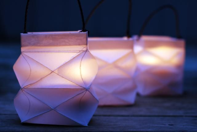 Folded Paper Party Lantern Craft