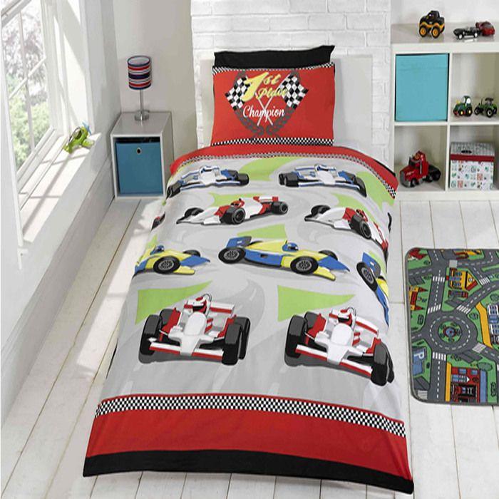 Motor Racing, Boys  Single Bedding