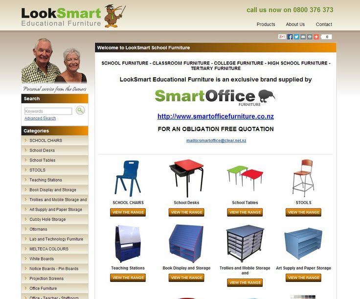 LookSmart Furniture is a brand sold exclusively by SmartOffice, a family owned and operated New Zealand based direct marketing company that has been established to provide quality products at competitive prices. We have successfully sold and continue to market and sell school furniture, tertiary furniture, hospitality furniture, institutional furniture and both commercial and home office furniture into a wide range of locations throughout New Zealand.