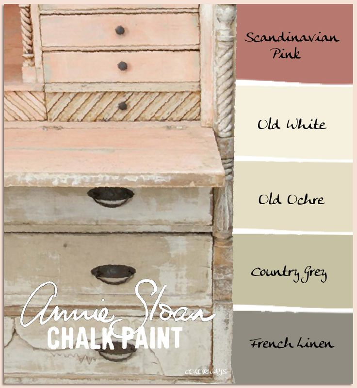 Annie Sloan's Chalk Paints can be mixed with Old White to form a pastel palette and create depth and texture, as seen on this antique secretary.