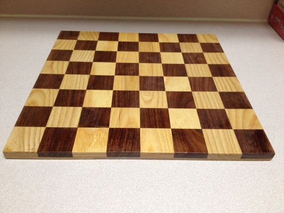 Walnut and Ash Checker/Chess board by MainStCrafts on Etsy