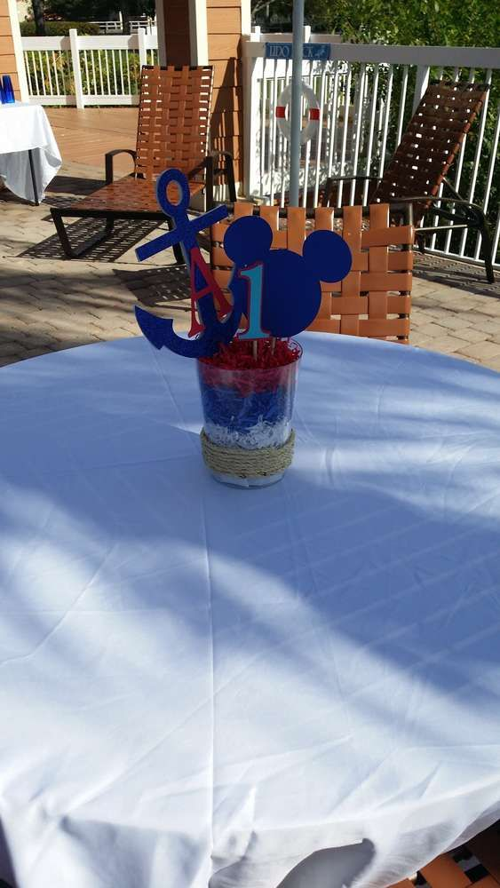 Nautical Mickey Mouse Party | CatchMyParty.com