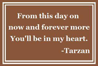 """Tarzan"" quote"