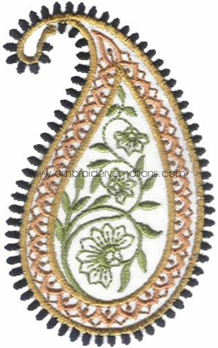 Paisley Embroidery Design by embroideryemotions, via Flickr