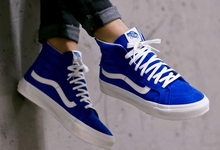 Vans Sk8-hi Slim Royal Blue #sneakernews #Sneakers #StreetStyle #Kicks